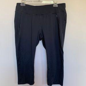 Danskin Now Yoga Pant Gray Cropped Legging Large